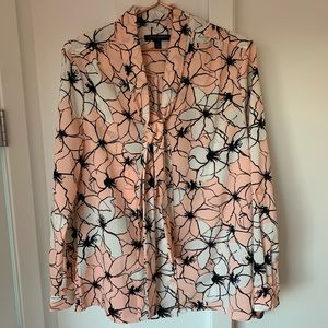 Banana Republic Floral Top Long-Sleeve